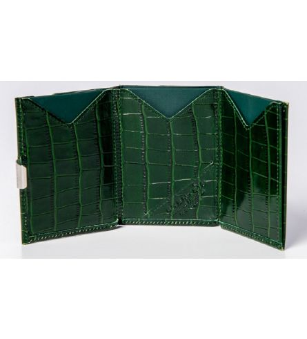 Exentri Wallet Caiman Green Leather Wallet