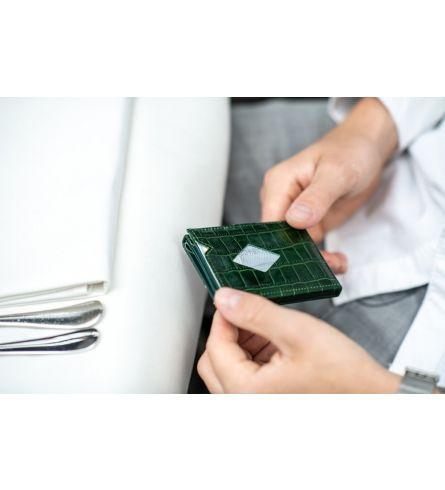Exentri Wallet Caiman Green Trifold
