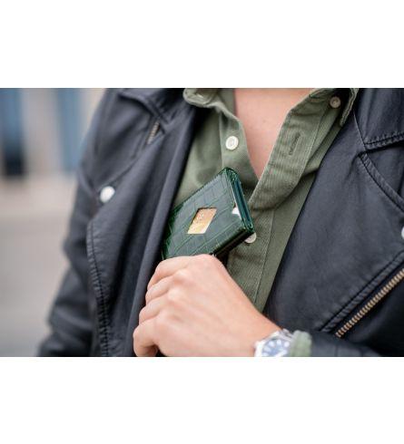 Exentri Wallet Caiman Green Smart Wallet