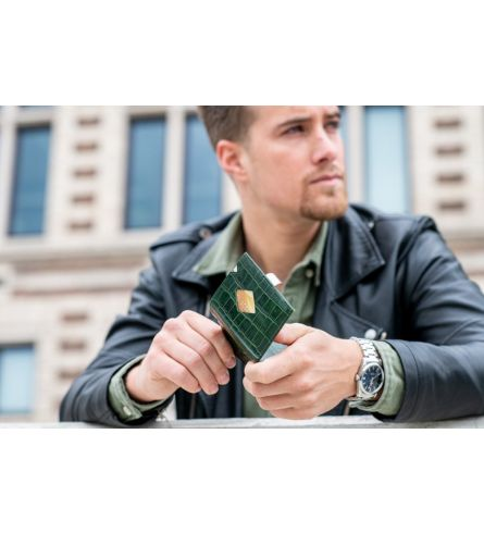Exentri Wallet Caiman Green Mens Wallet