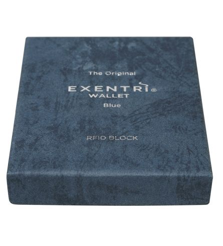 Exentri RFID Wallet Blue Gift Box Wallet