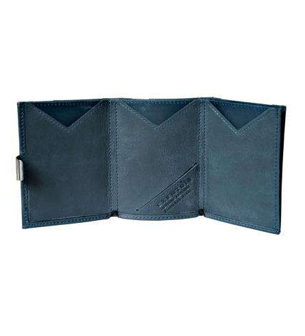 Exentri RFID Wallet Blue Compact Wallet