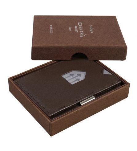 Exentri RFID Wallet Brown Billfold Wallet