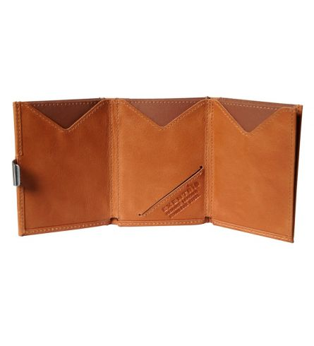 Exentri Wallet RFID Cognac Trifold Wallet
