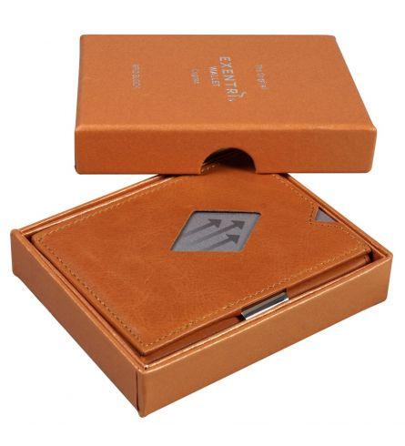 Exentri Wallet RFID Cognac Gift Wallet