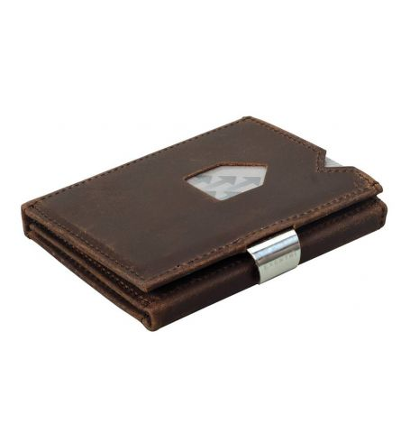 Exentri Wallet RFID Nubuck Brown LEather Wallet