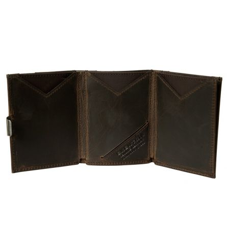 Exentri Wallet RFID Nubuck Brown Billfold Wallet