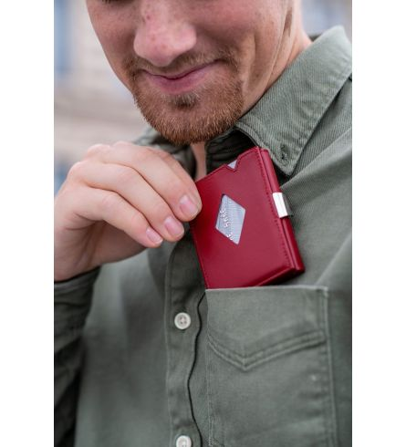 Exentri Wallet RFID Red Quality Wallet
