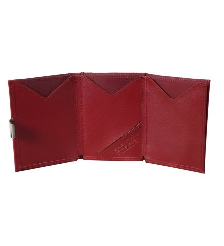 Exentri Wallet RFID Red Trifold Wallet