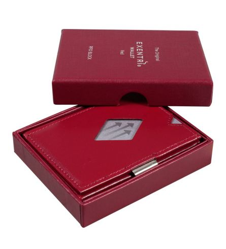 Exentri Wallet RFID Red Compact Wallet