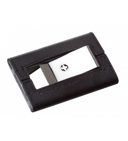 Wagner Swiss Wallet Tuxedo Silver Leather